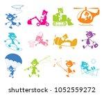 vector illustration of set of... | Shutterstock .eps vector #1052559272