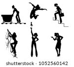 vector illustration of six... | Shutterstock .eps vector #1052560142