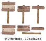 set of vintage road sign...   Shutterstock . vector #105256265