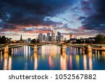 frankfurt am main skyline | Shutterstock . vector #1052567882