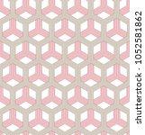 vector seamless geometric... | Shutterstock .eps vector #1052581862