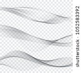 abstract gray waves set. | Shutterstock .eps vector #1052583392