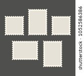 postage stamps template. blank... | Shutterstock .eps vector #1052586386