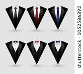 set of suit and tuxedo isolated ... | Shutterstock .eps vector #1052586392