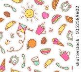 breakfast illustration ... | Shutterstock . vector #1052589602