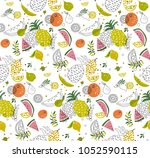 cute abstract pattern with... | Shutterstock .eps vector #1052590115