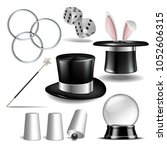 magician symbol set with black... | Shutterstock .eps vector #1052606315