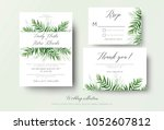wedding invitation  rsvp  thank ... | Shutterstock .eps vector #1052607812