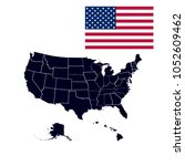us states in the map of america | Shutterstock .eps vector #1052609462