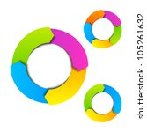 circle diagram. vector. | Shutterstock .eps vector #105261632