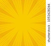 yellow and orange retro comic... | Shutterstock .eps vector #1052628266