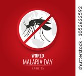 world malaria day with no... | Shutterstock .eps vector #1052632592