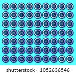 stopwatch icons set in flat... | Shutterstock .eps vector #1052636546
