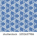 decorative seamless geometric... | Shutterstock .eps vector #1052637986