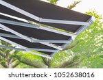 black canvas with steel... | Shutterstock . vector #1052638016