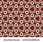 decorative seamless geometric... | Shutterstock .eps vector #1052638826