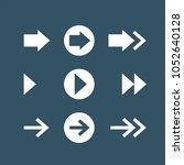 arrows flat vector icons set | Shutterstock .eps vector #1052640128