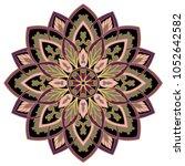 vector abstract mandala. design ... | Shutterstock .eps vector #1052642582