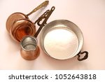 copper kitchenware on the... | Shutterstock . vector #1052643818