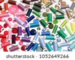 colored ribbons of buttons and... | Shutterstock . vector #1052649266