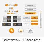 set of flat design ui and ux... | Shutterstock .eps vector #1052651246