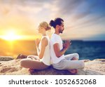yoga   mindfulness  harmony and ... | Shutterstock . vector #1052652068