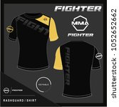 rash guard  mma shirt design... | Shutterstock .eps vector #1052652662