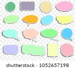 set of empty speech and thought ... | Shutterstock .eps vector #1052657198
