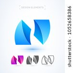 vector abstract logo elements... | Shutterstock .eps vector #1052658386