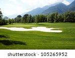 Golf Field   Landscape View