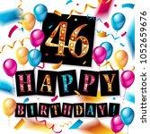 46 years anniversary vector... | Shutterstock .eps vector #1052659676