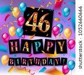 46 years anniversary vector... | Shutterstock .eps vector #1052660666