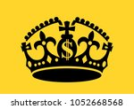 crown with us dollar symbol as... | Shutterstock .eps vector #1052668568