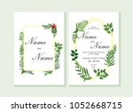 wedding invitation  rsvp modern ... | Shutterstock .eps vector #1052668715