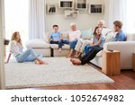 multi generation family... | Shutterstock . vector #1052674982