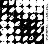 grunge halftone black and white ... | Shutterstock .eps vector #1052681432