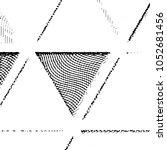 grunge halftone black and white ... | Shutterstock .eps vector #1052681456
