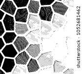 grunge halftone black and white ... | Shutterstock .eps vector #1052681462