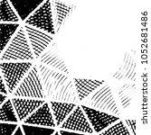 grunge halftone black and white ... | Shutterstock .eps vector #1052681486