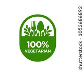 vegetarian 100  icon. isolated... | Shutterstock .eps vector #1052686892