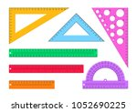 vector illustration. set of... | Shutterstock .eps vector #1052690225