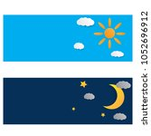day and night illustration. sky ... | Shutterstock .eps vector #1052696912
