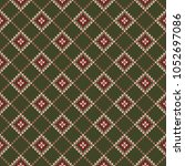 abstract seamless knitting... | Shutterstock .eps vector #1052697086