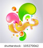 color vector bubbles banner and ... | Shutterstock .eps vector #105270062