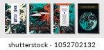minimal modern cover template....   Shutterstock .eps vector #1052702132