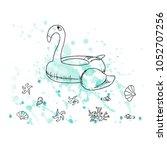 vector illustration. pen style...   Shutterstock .eps vector #1052707256