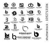 logo collections b. logo design ... | Shutterstock .eps vector #1052713106