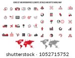 logistics service icon set.... | Shutterstock .eps vector #1052715752