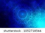 dark blue vector doodle blurred ... | Shutterstock .eps vector #1052718566
