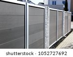 privacy fence  close up | Shutterstock . vector #1052727692